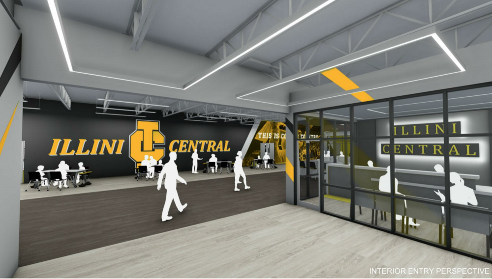 Illini Central Building Addition Interior Images