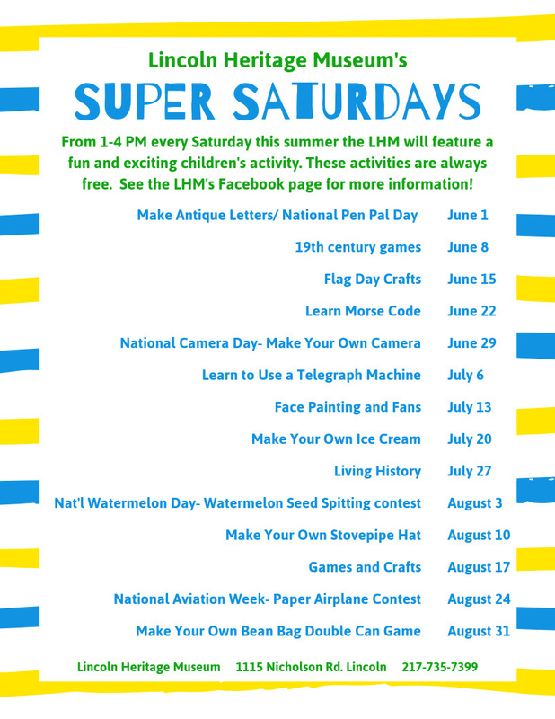 Lincoln Museum Hosts Super Saturdays This Summer